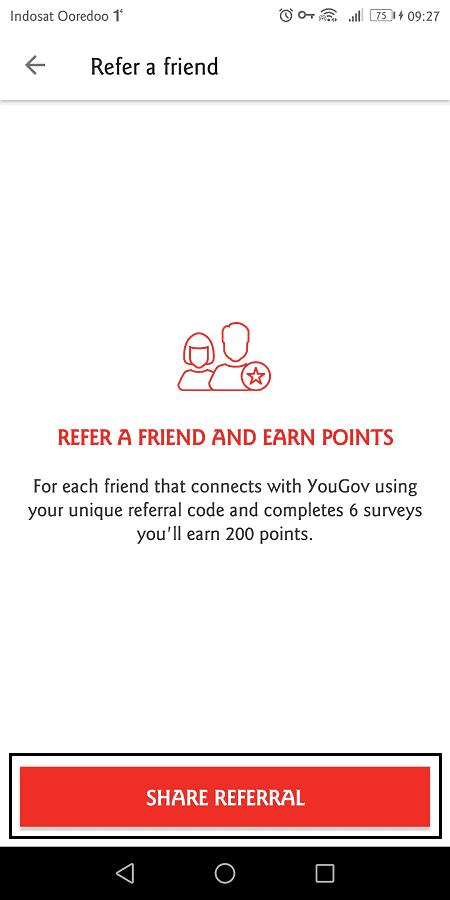 kode referral yougov bisa disalin atau dibagikan langsung ke social media