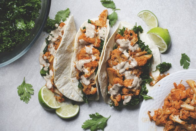 Bomb Ass Buffalo Cauliflower Tacos #healthyfood #dietketo