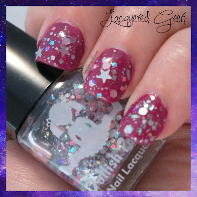 dollish polish care bear stare swatch
