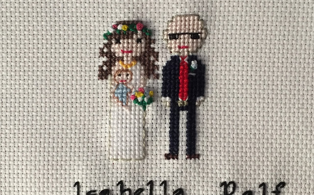 Hochzeitsportrait sticken