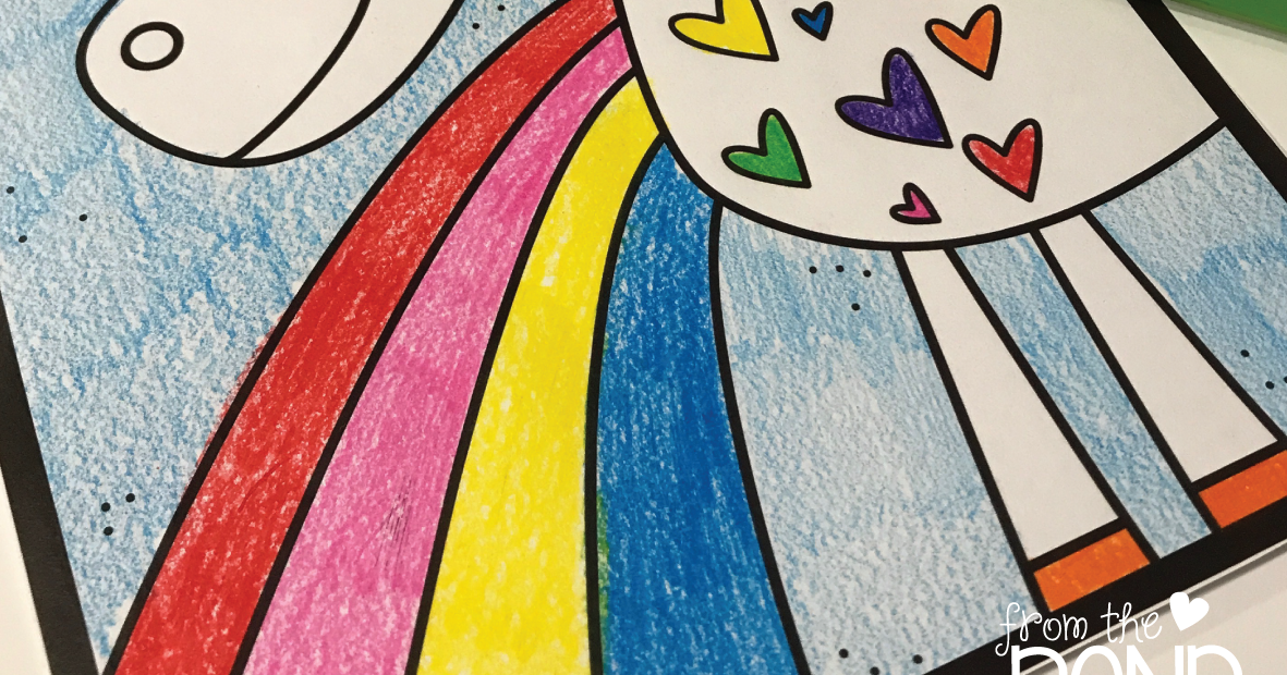 Unicorn A Rainbow Coloring Page | From the Pond