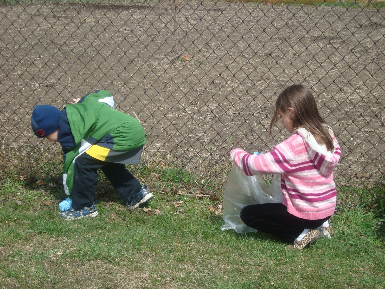 Joyful Learning in the Early Years: Earth Day Yard Clean Up