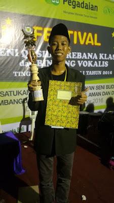 Dandi Rahman Juara 3 Lomba Vokalis