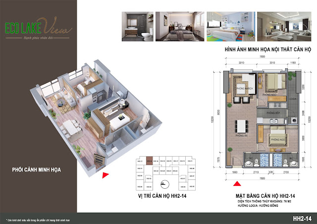 Thiết kế căn hộ B1-14 chung cư Eco Lkae View