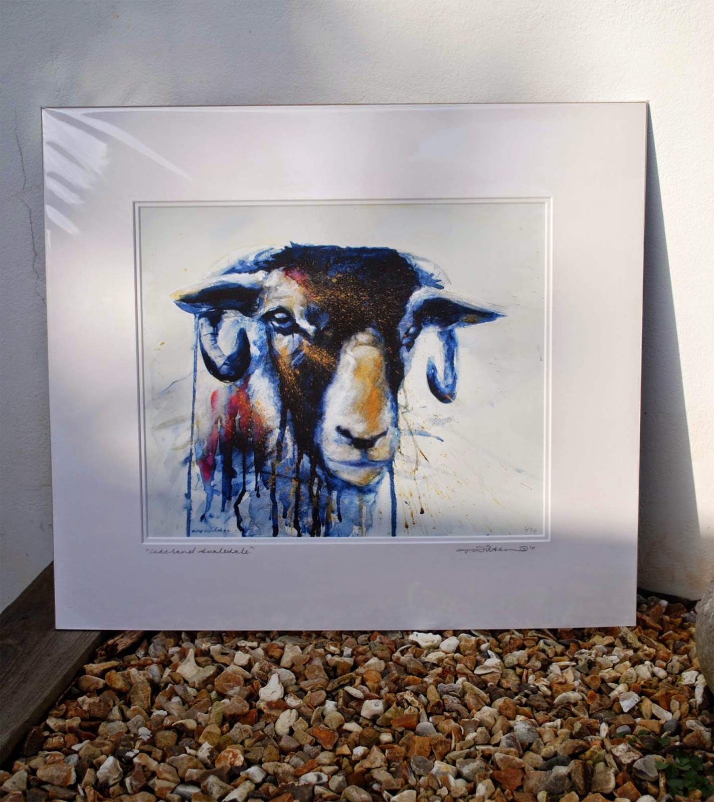 swaledale ram, for sale, lake district, watercolour painting