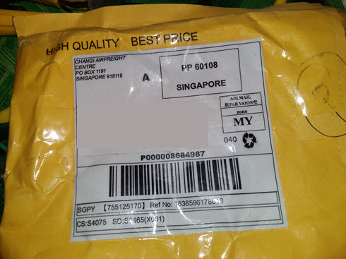 China post air mail delivery time via changi airfreight centre po box 1191 to Kuching Sarawak Malaysia