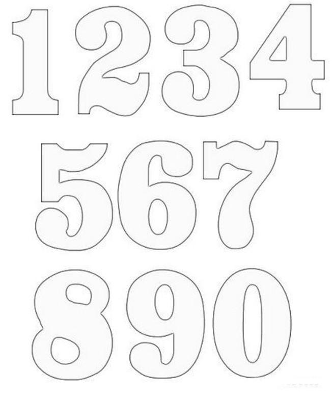 Baú Da Web: 10 Moldes De Números Para Imprimir