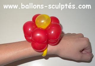 ballon bracelet fleur