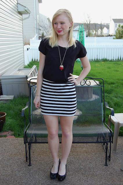 My Favorite Striped Skirt | Organized Mess