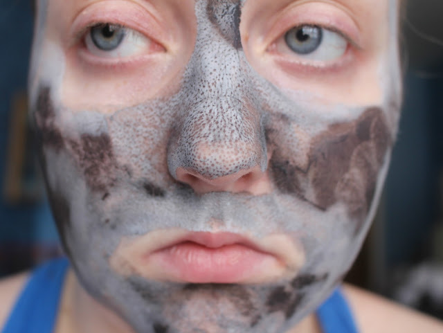 Photograph of the Avon Black Mineral Mask When Dry