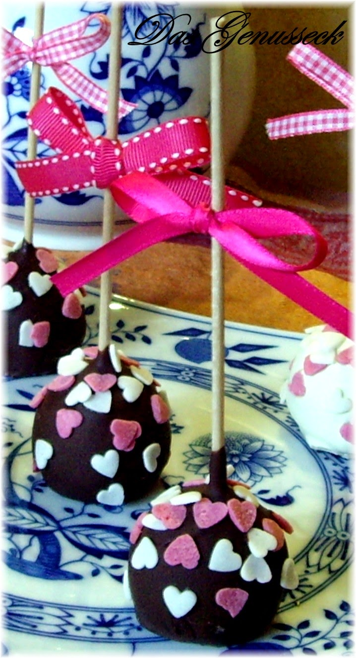 das genusseck double chocolate cake pops. Black Bedroom Furniture Sets. Home Design Ideas