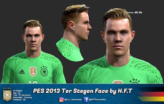 PES 2013 Ter Stegen face by H.F.T