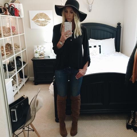 black floppy hat fall hat styles parlor girl