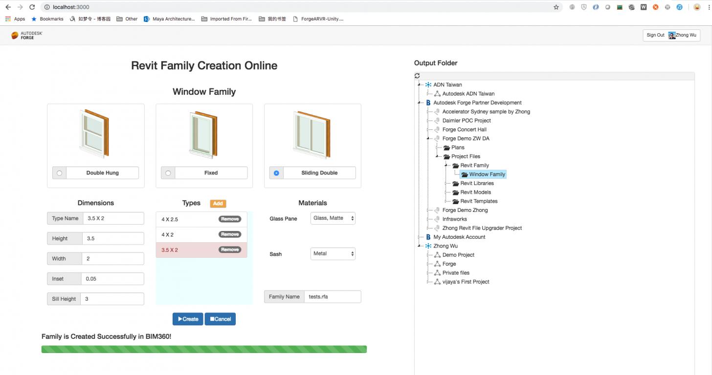 Revit Add-Ons: Design Automation Sample - Revit Window
