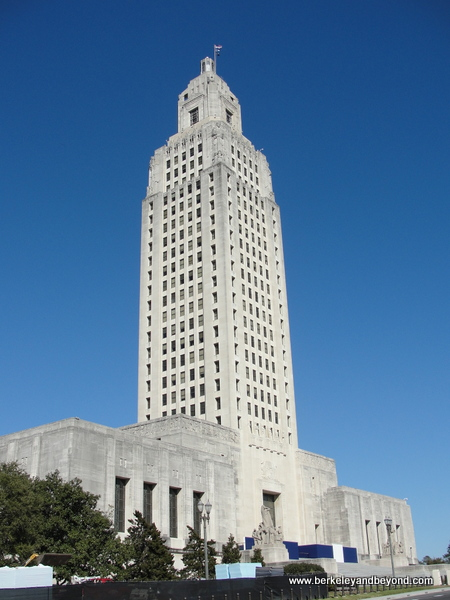 exterior of Louisiana State Capitol in Baton Rouge, Louisiana