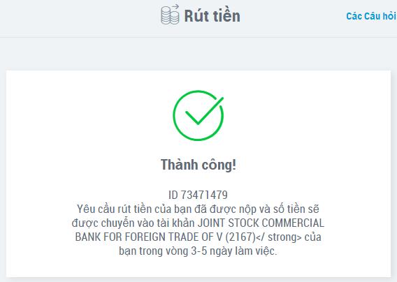 Rút tiền từ Payoneer về ngân hàng Việt Nam