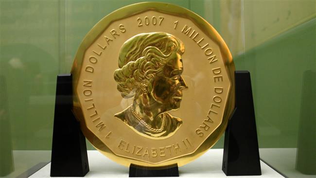 """A moeda gigante, chamada de """"Big Maple Leaf"""", foi levada durante a madrugada de segunda-feira do Museu Bode, em Berlim"""