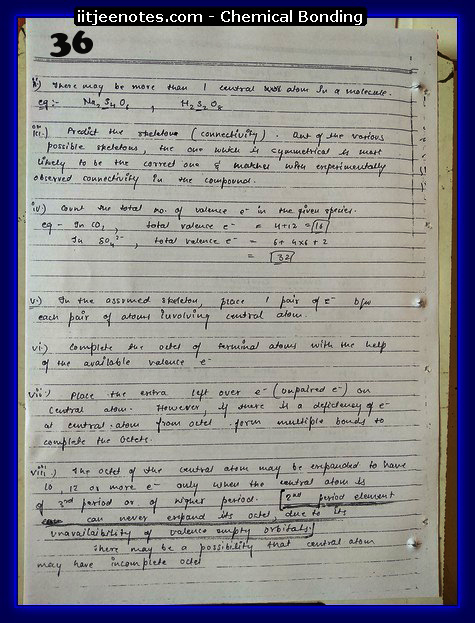 Chemical Bonding Notes IITJEE 13