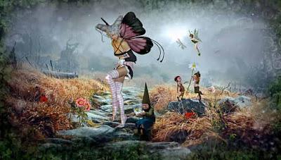 años 1850 eran muchos los lugares que, segun el folklore se vehían hadas gnomos  duendes