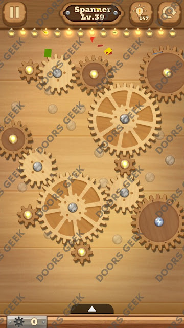 Fix it: Gear Puzzle [Spanner] Level 39 Solution, Cheats, Walkthrough for Android, iPhone, iPad and iPod