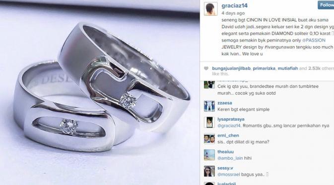 Cincin Nikah Unik Artis Indonesia