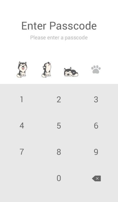 Cute Husky (Black & White)