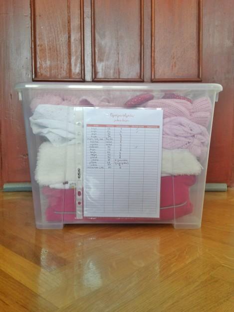 Organiziranje bebine odjeće pomoću SAMLA kutija