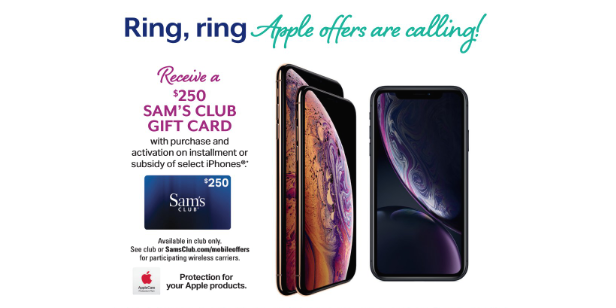 Sam's Club offering great deals on iPhone XS, iPhone XS Max and iPhone XR on December 15