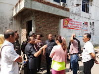 Anggota DPRD Medan Tinjau Lokasi Pembangunan WC Komplek Deli Yang Ditolak Warga