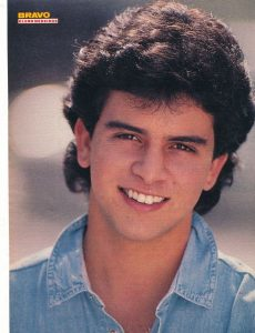 En una imagen de la revista 'Bravo' a finales de los años 80