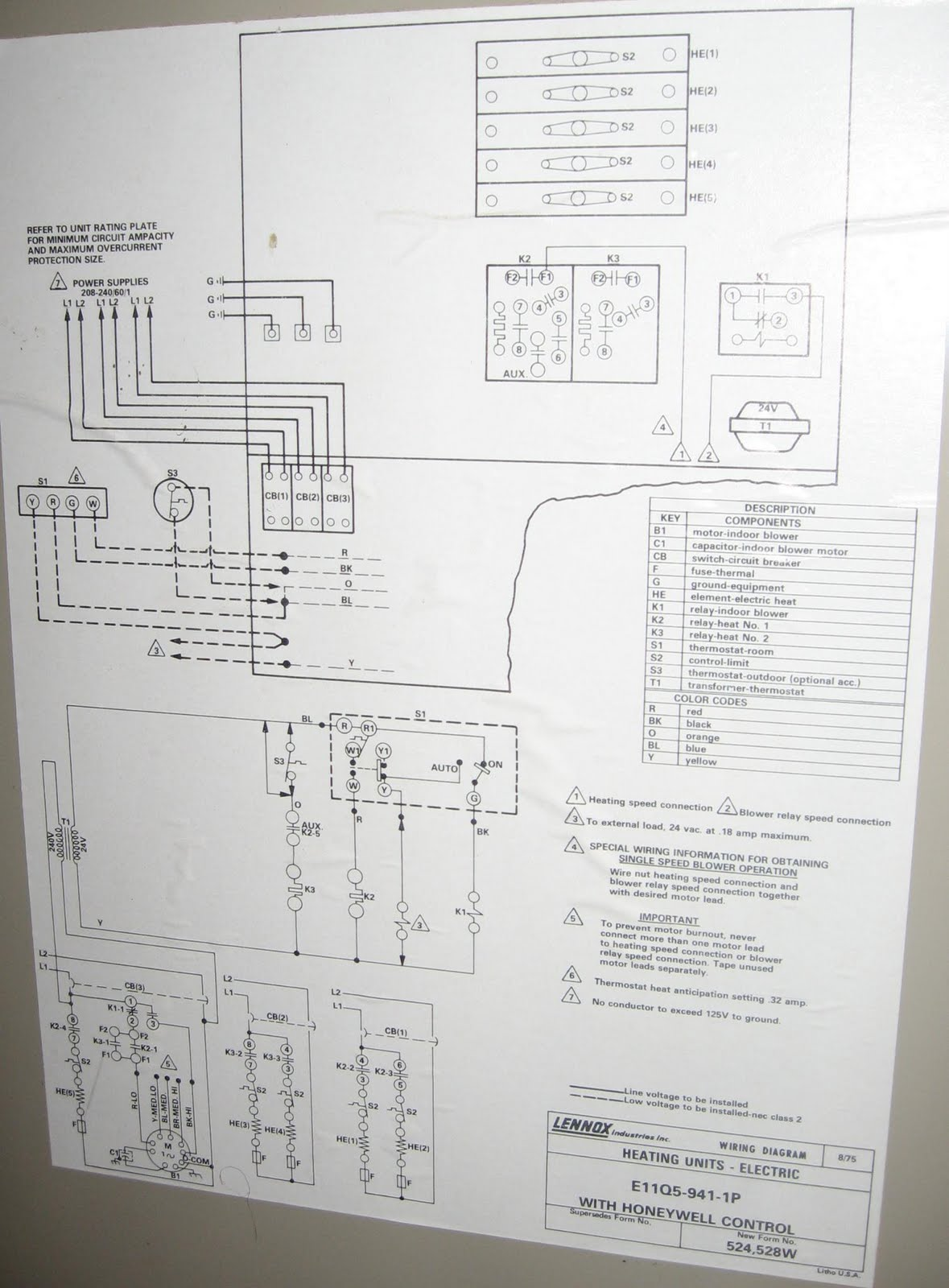 Nice Old Lennox Wiring Diagram Pictures Inspiration - Electrical ...