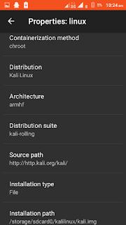 Set Distribution to Kali Linux