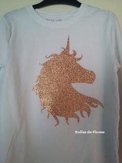 BullesdePlume-DIY-customisation-TeeshirtLicorne-Toga-tissuthermocollant