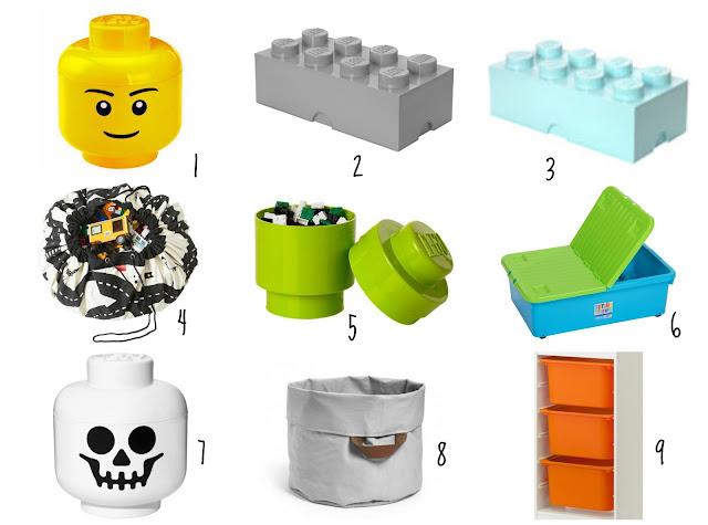 pojemnik na klocki Lego z przegródkami