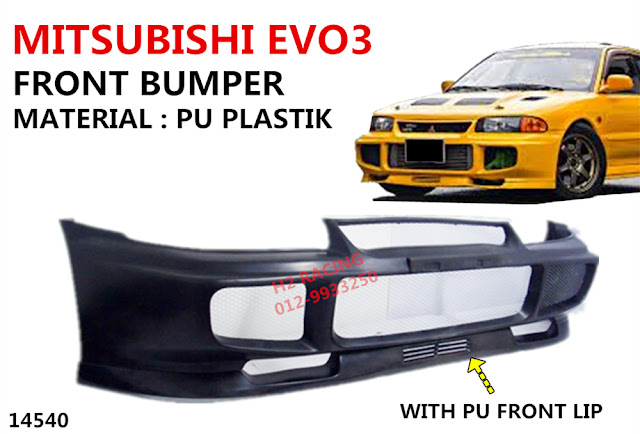 Car Accessories: MITSUBISHI EVO3 FRONT BUMPER WITH PU LIP
