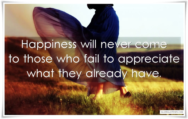 Happiness Will Never Come