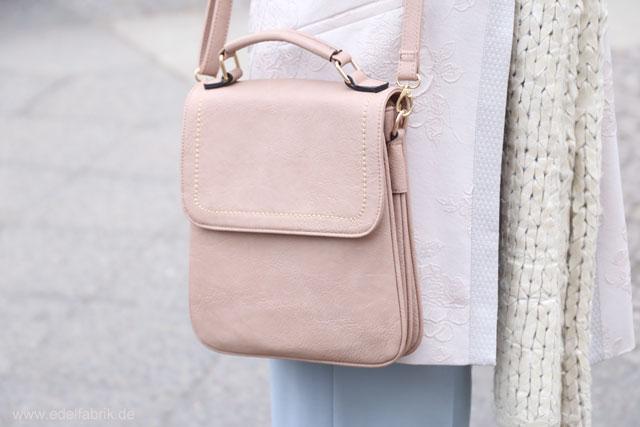 Culotte im Winter kombinieren,Rosa Handtasche
