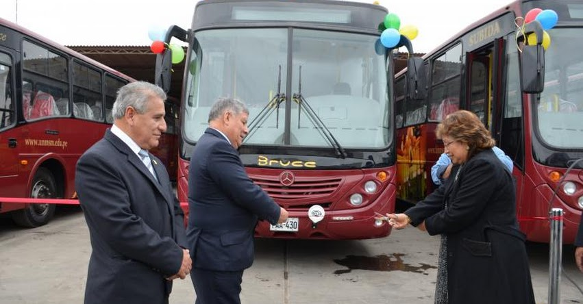 UNMSM: Universidad de San Marcos presentó nueva flota de buses, que circulará desde hoy hacia el perímetro de la Ciudad Universitaria - www.unmsm.edu.pe