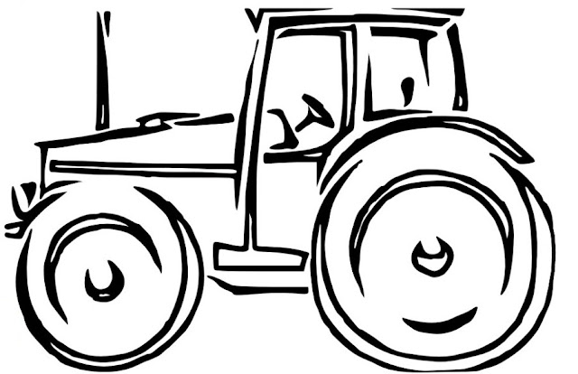 coloriage à imprimer tracteur agricole