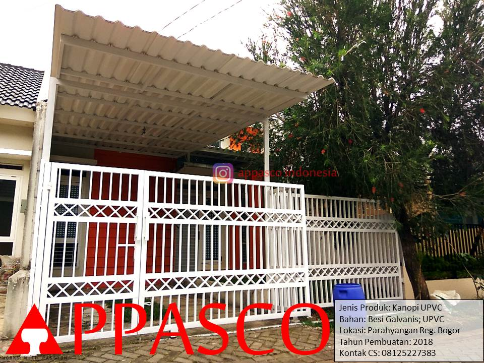 Kanopi Minimalis Modern Atap UPVC di Parahyangan Regency