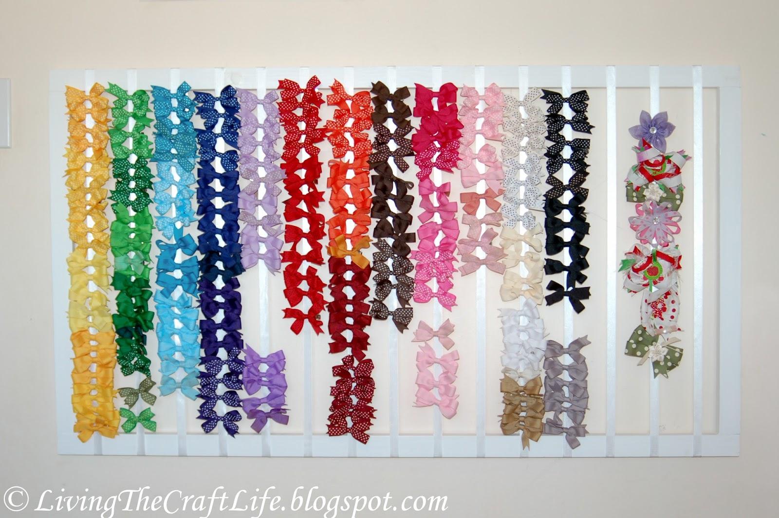 Living the Craft Life: DIY Hair Bow Holder