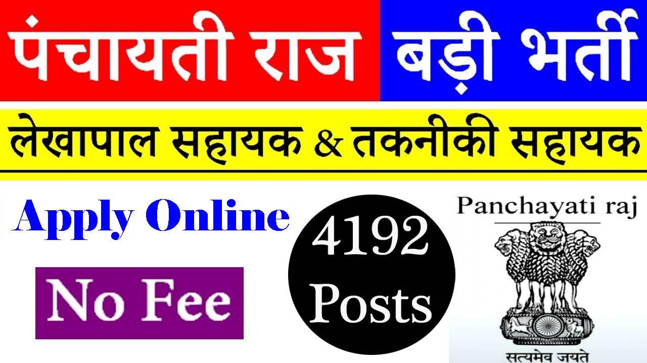 Bihar Panchayati Raj Department Recruitment 2018 - Sarkari Result 4 Alls