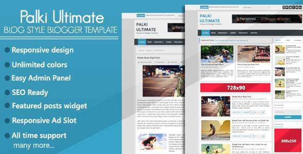 Palki Ultimate - Blog Style Blogger Template - Blogging