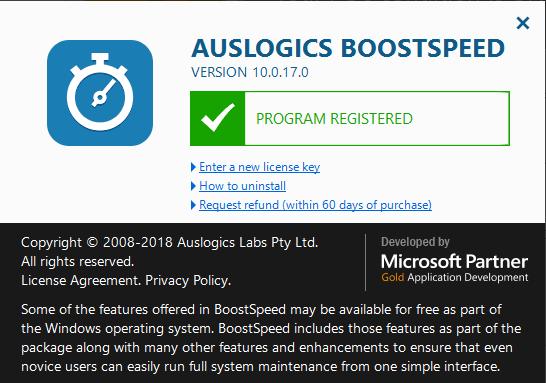 Auslogics BoostSpeed Crack Serial Key License Code Activation Registration