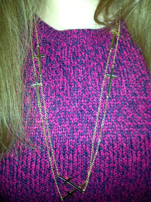 Double Chain Gold Cross Necklace