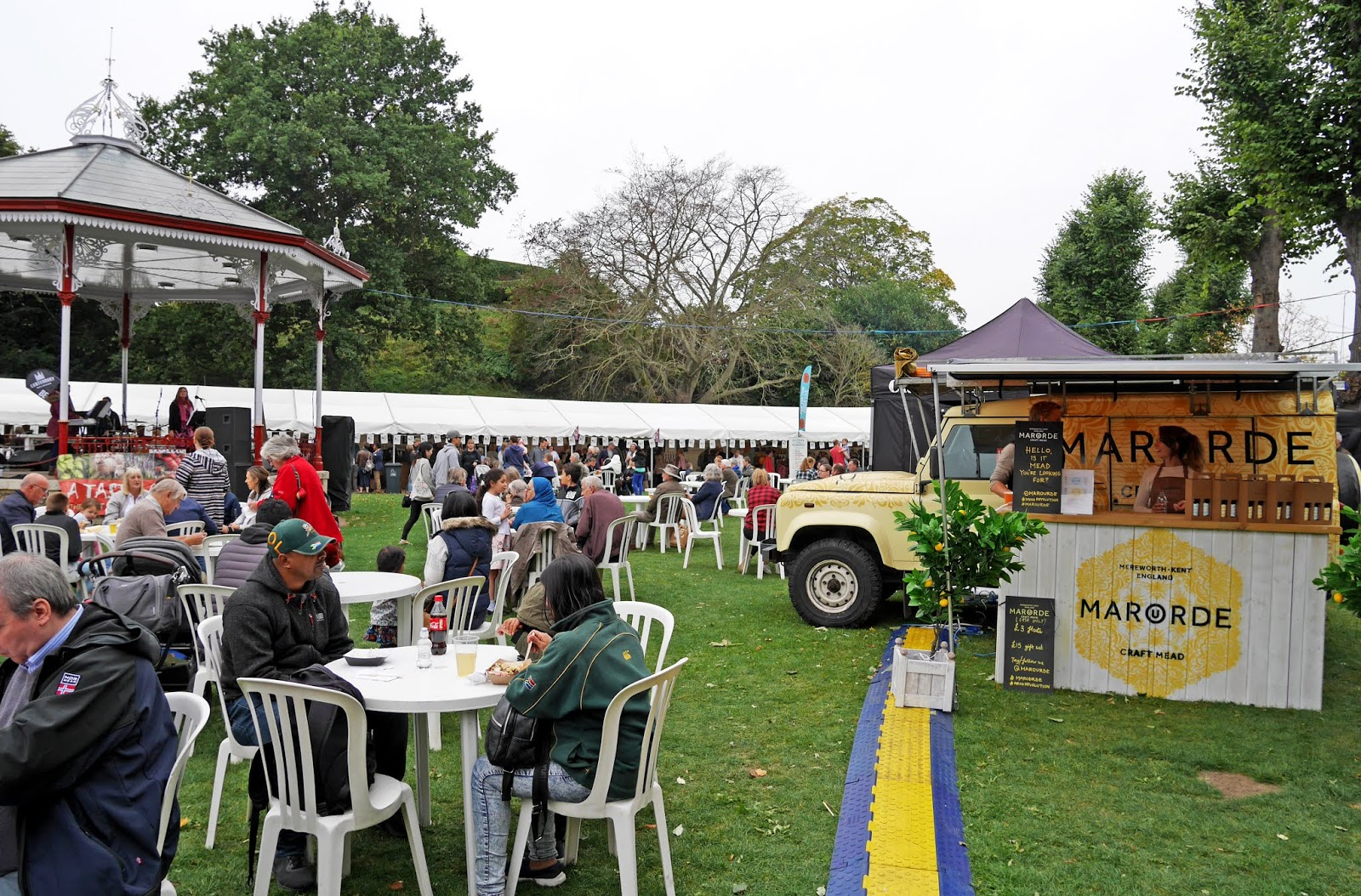 The bandstand at the 2018 Canterbury Food Festival