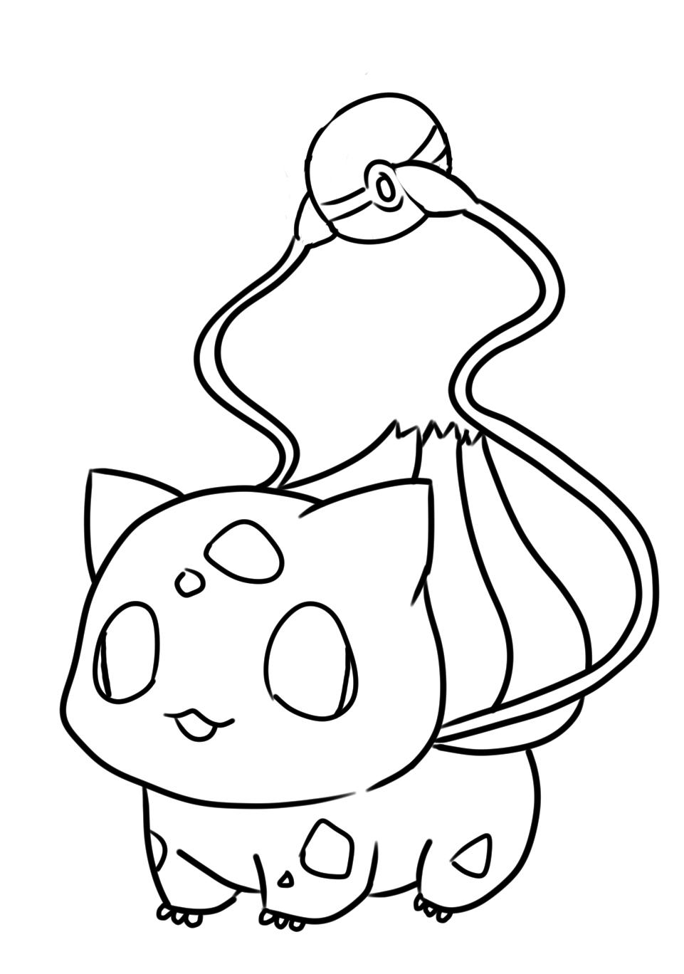 Baby Cute Easy Pokemon Coloring Pages Novocom Top