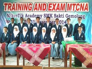 """Sekolah Perama yang Mempelajari Mikrotik ; MikroTik Academy"""" SMK Sakti Gemolong"""