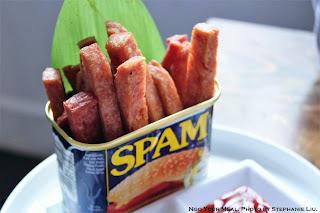 Spam Fries with Pickled Mango Sauce and Banana Ketchup at Manila Social Club