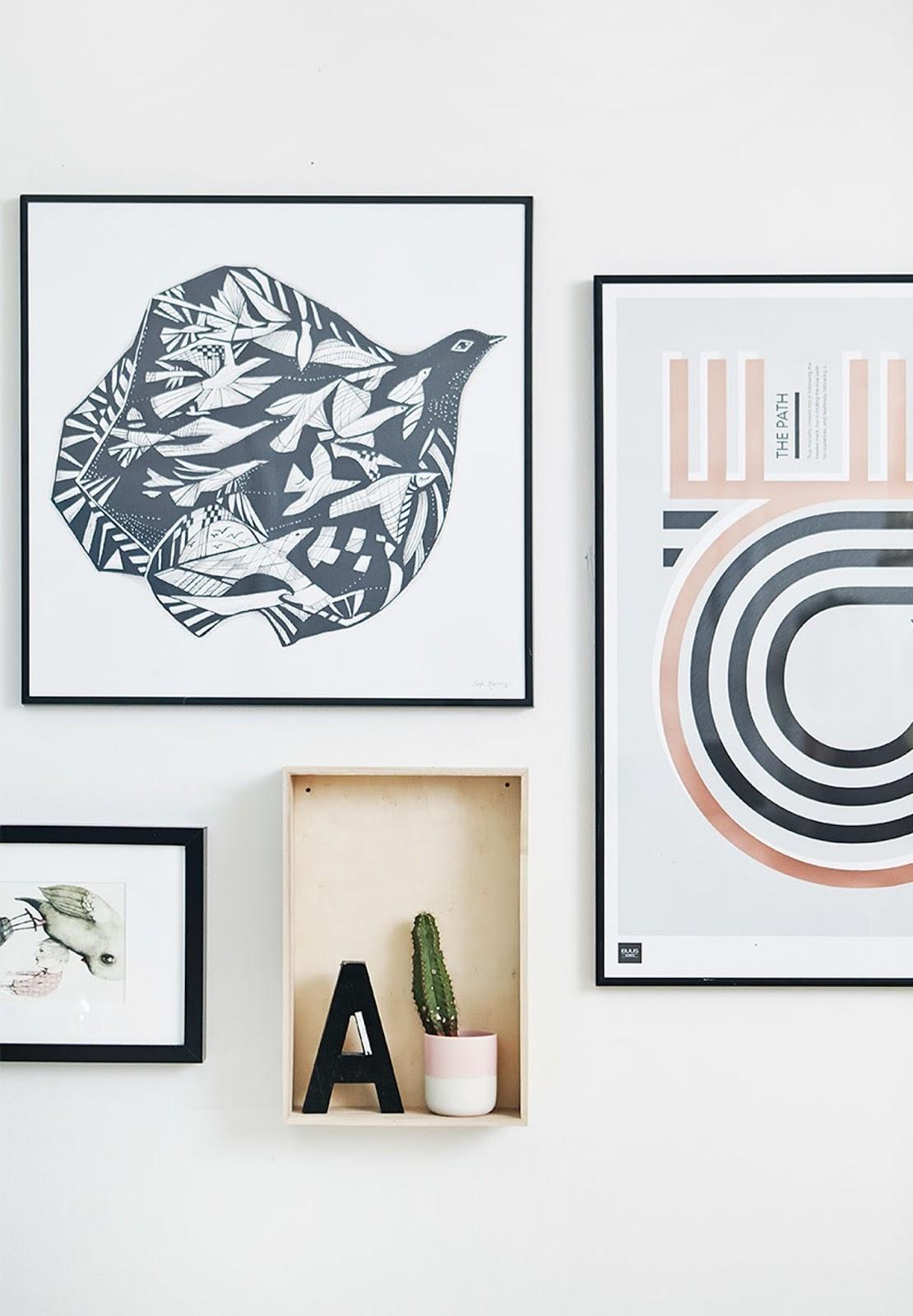 wall decor, modern illustration, cactus, art print
